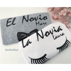 Camisetas para el novio y la novia