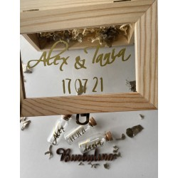 Caja recuerdos boda