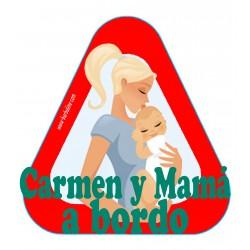 Pegatina bebé y mamá