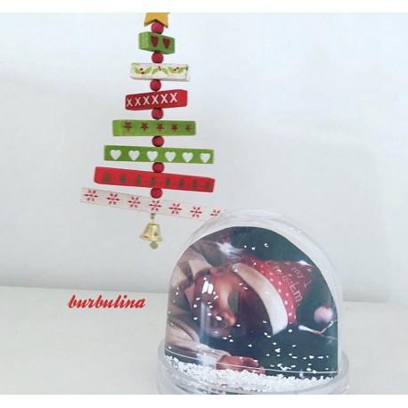 Bola de nieve navideña con Foto