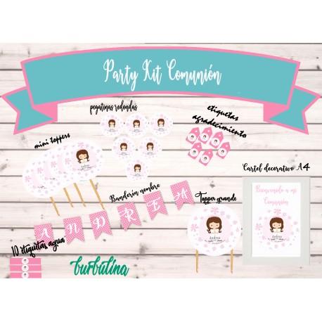 Party Kit imprimible Comunión