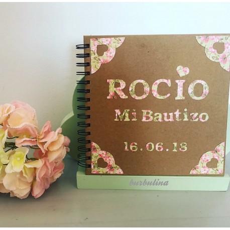Libro de firmas estampado flores