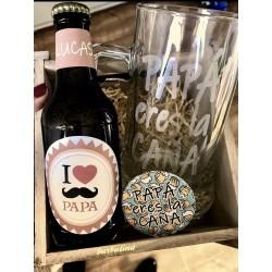 Pack regalo Papá Jarra Cerveza y abridor
